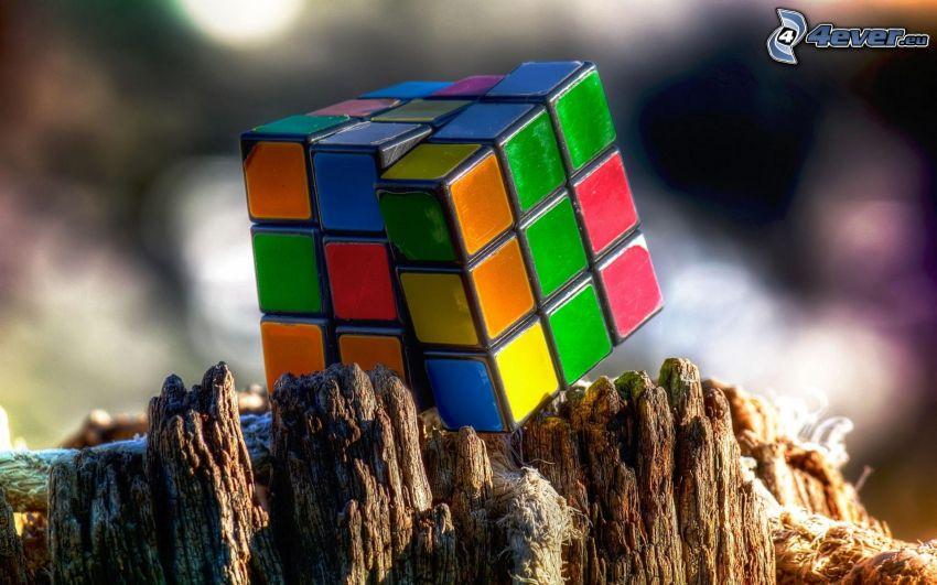 Kostka Rubika, drewno