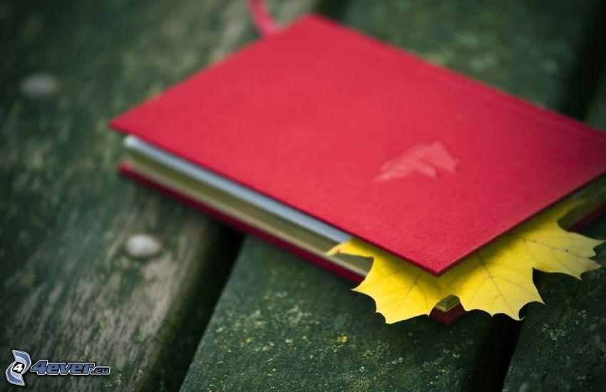 książka, liść