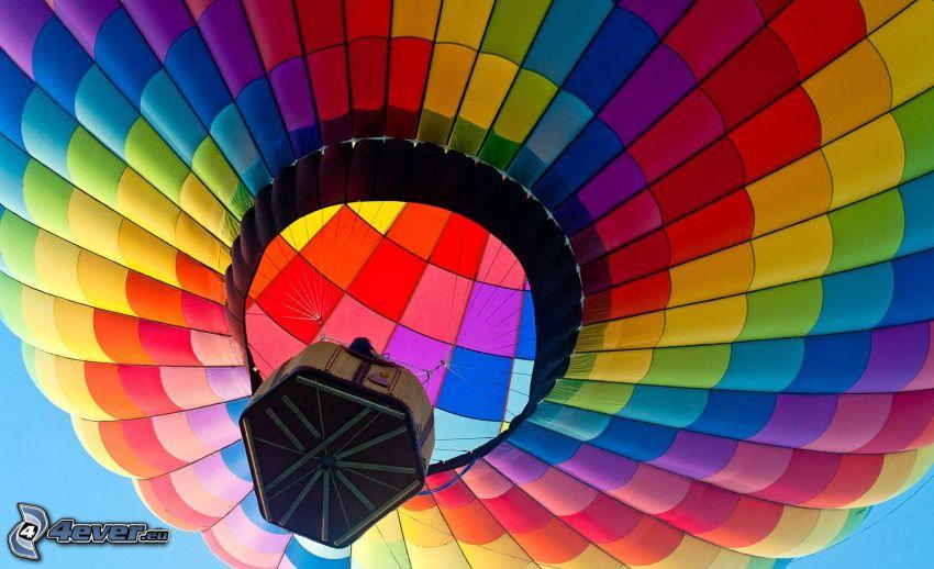 latający balon, kolory tęczy