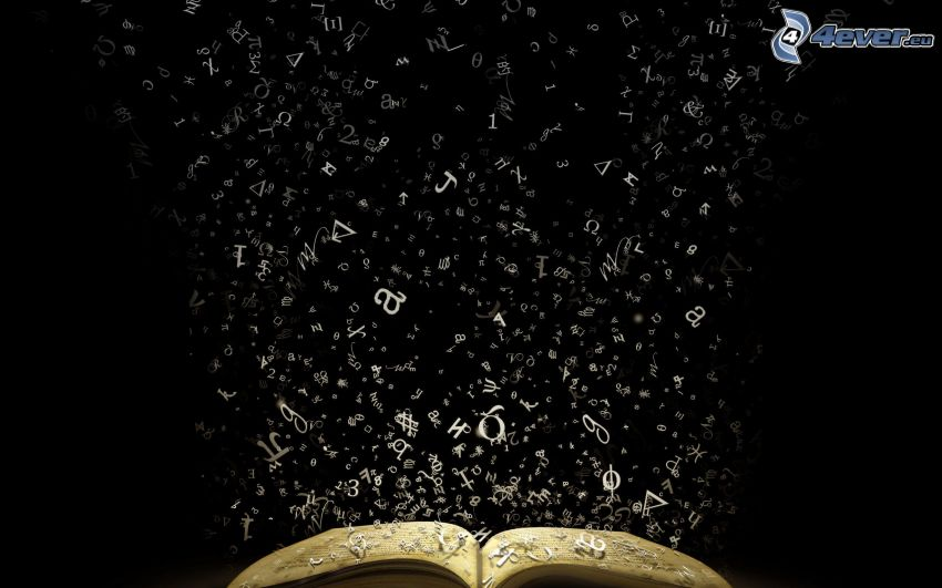 litery, książka