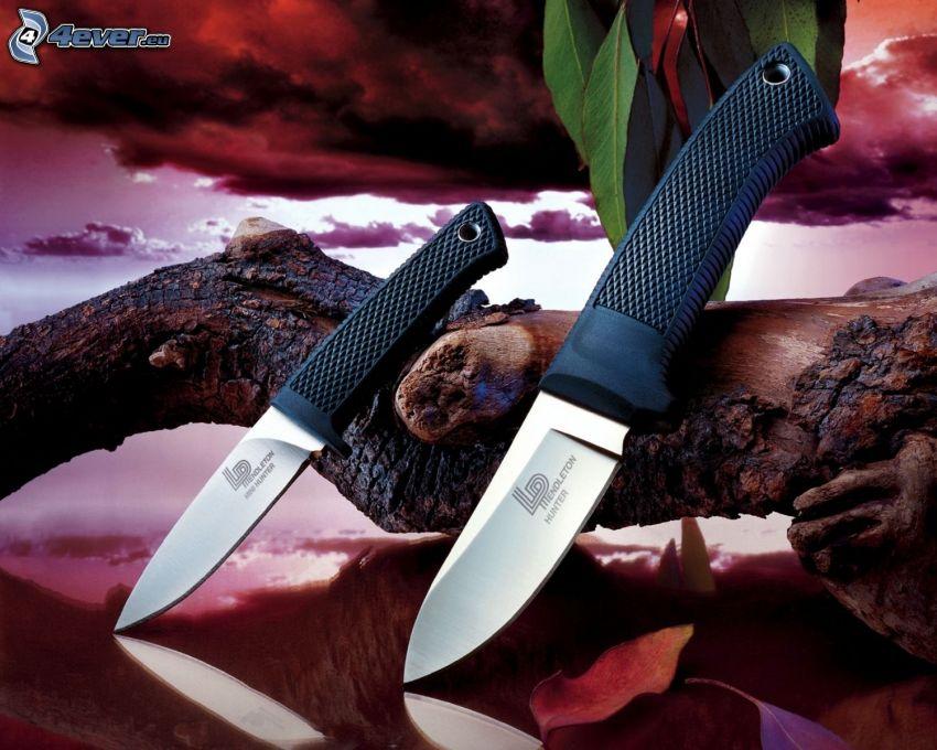 noże, drewno
