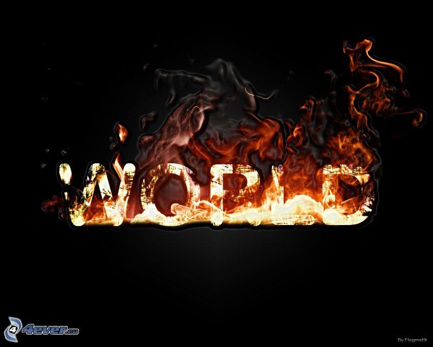 ogień, świat