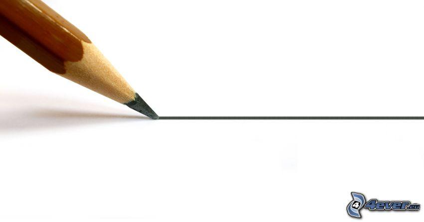 ołówek, kreska