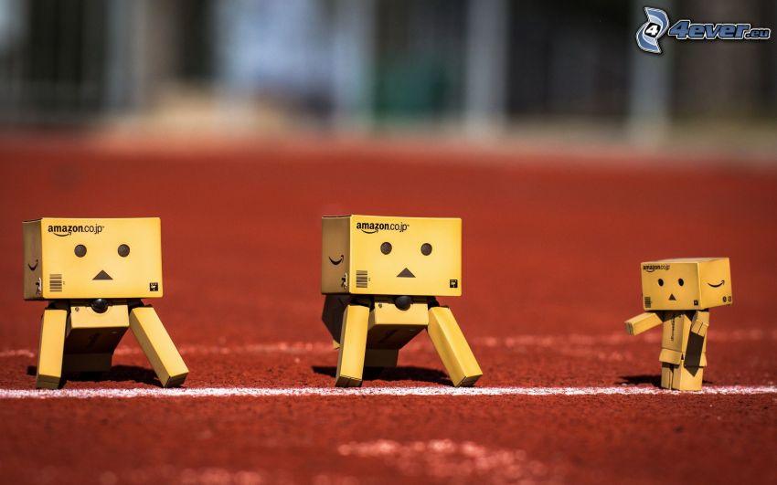 papierowe roboty, wyścigi