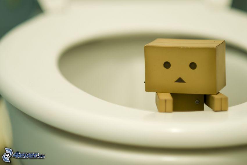 papierowy robot, toaleta