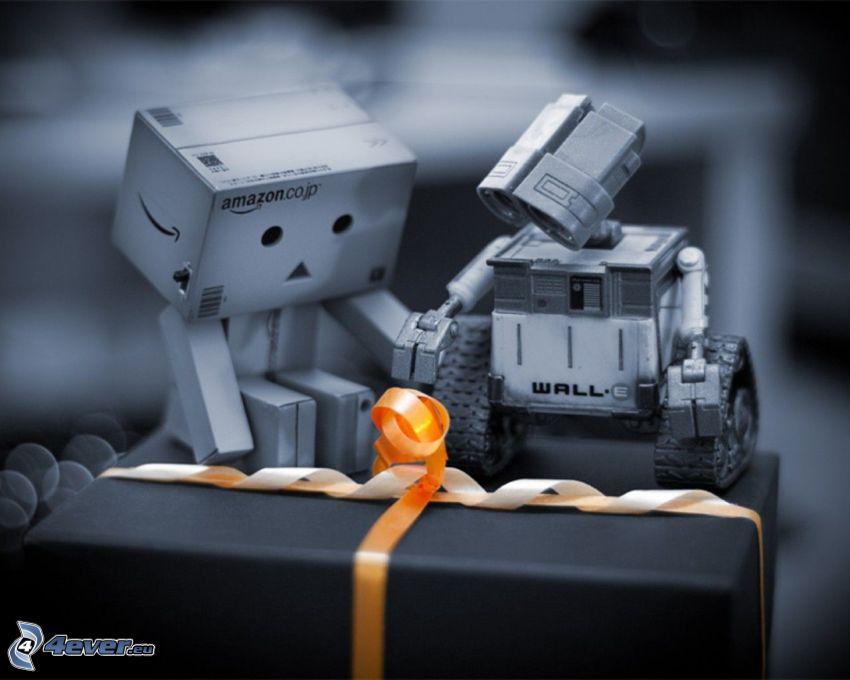 papierowy robot, WALL·E, prezent