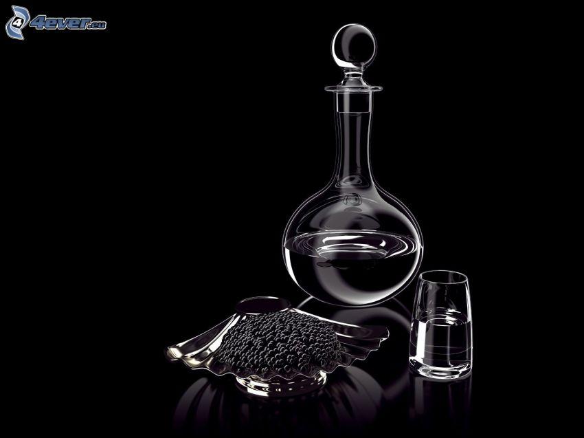 pojemnik z wodą, szklanka