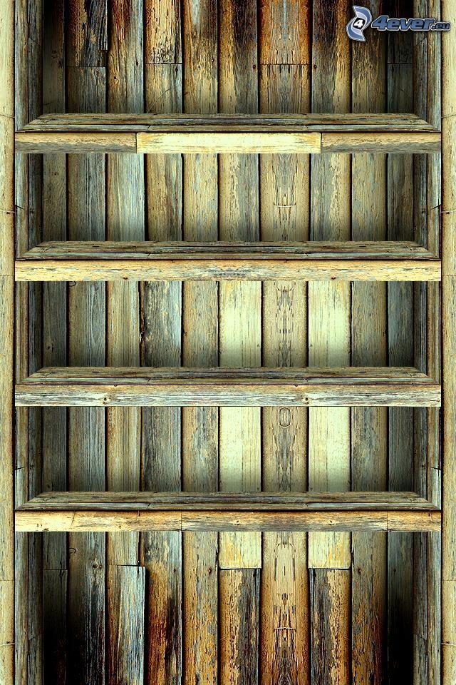 półki, drewno