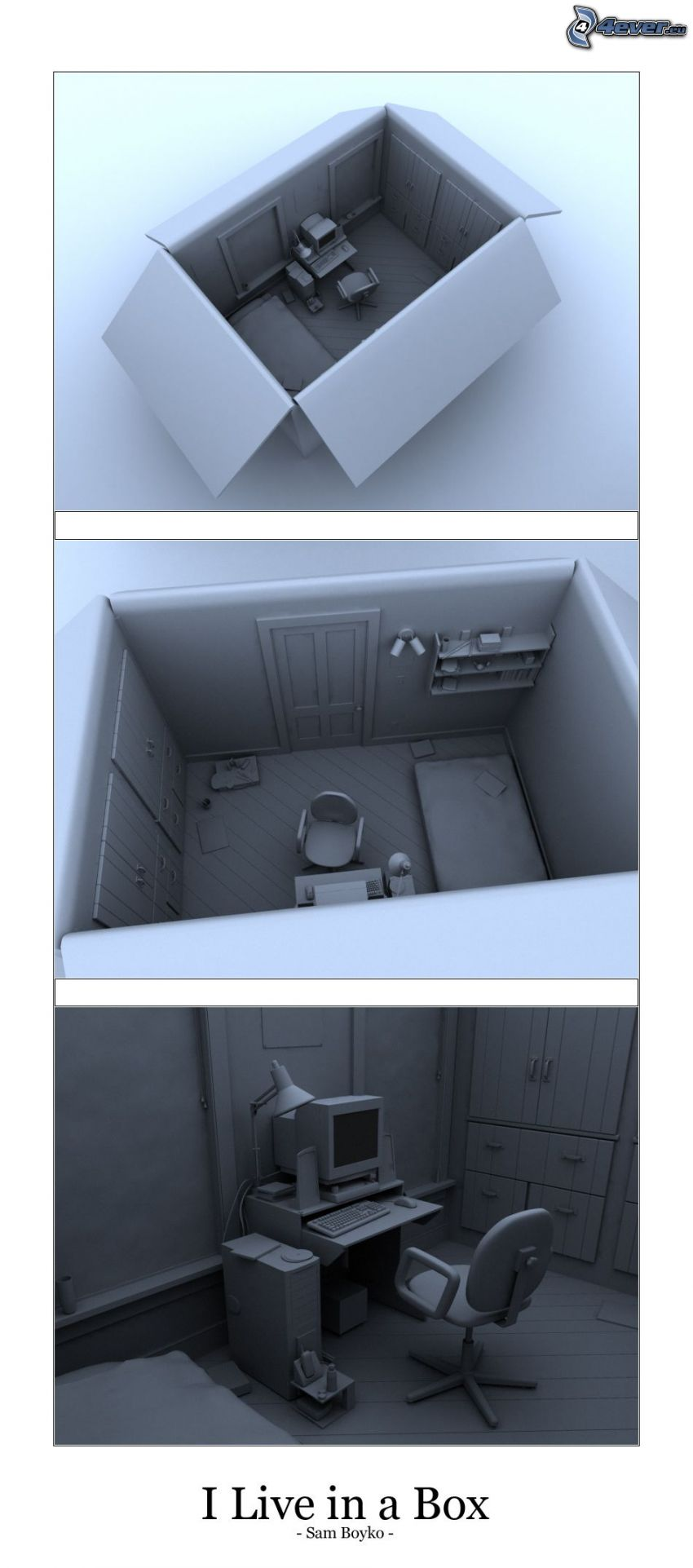 pudełko, pokój