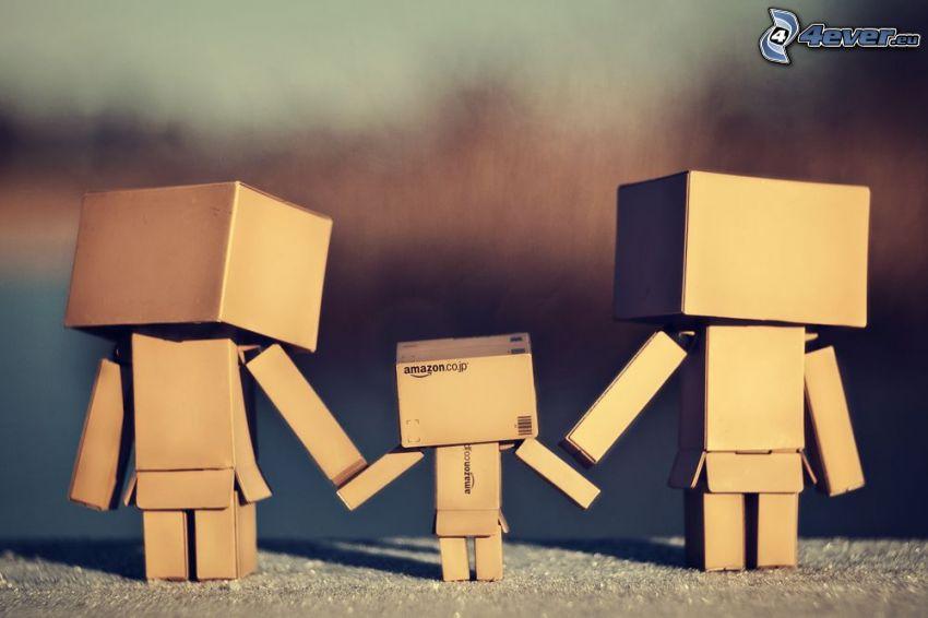 rodzina, papierowy robot, miłość robotów