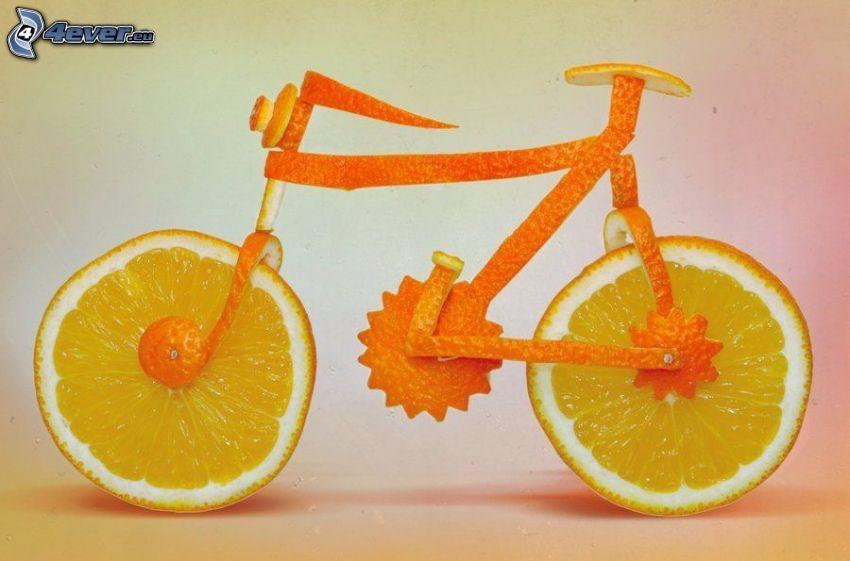 rower, pomarańcz