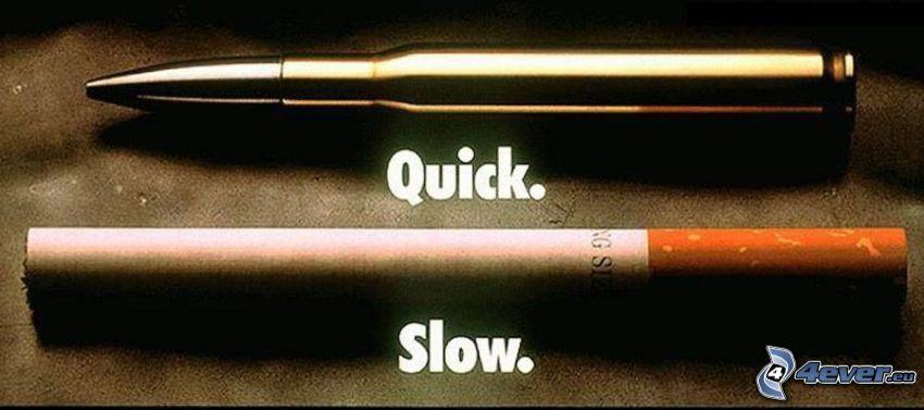 śmierć, papieros, nabój