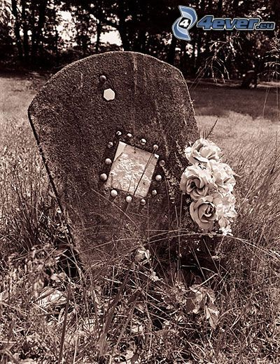 śmierć, płyta nagrobkowa