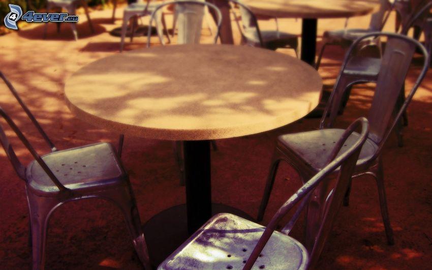stół, krzesła