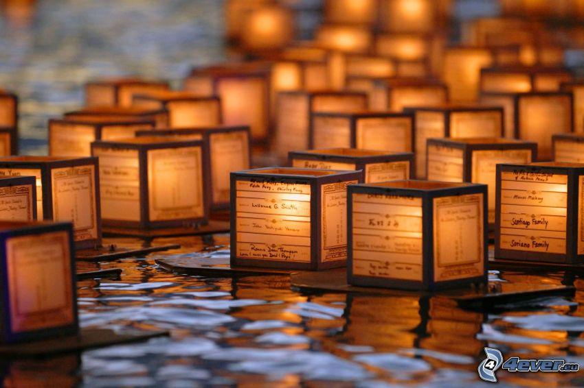 światła na wodzie, kostki