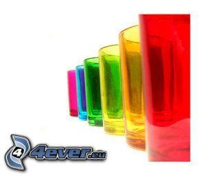 szklanka, kolory