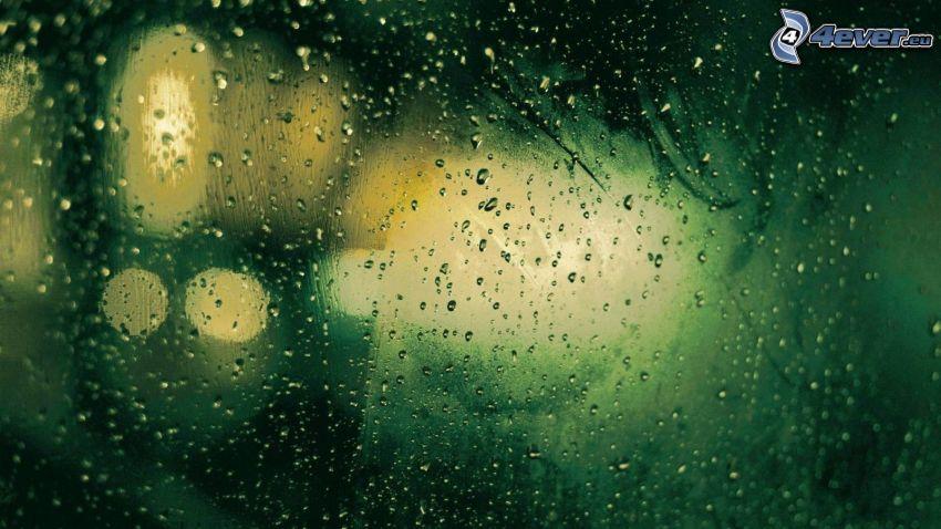 zroszone szkło, krople wody