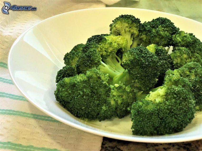 brokuły, talerz