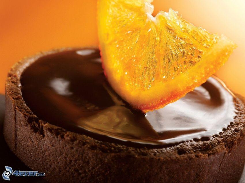 ciasto czekoladowe, cytryna