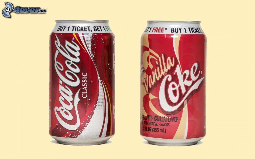 Coca Cola, puszki