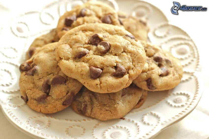 cookies, czekolada