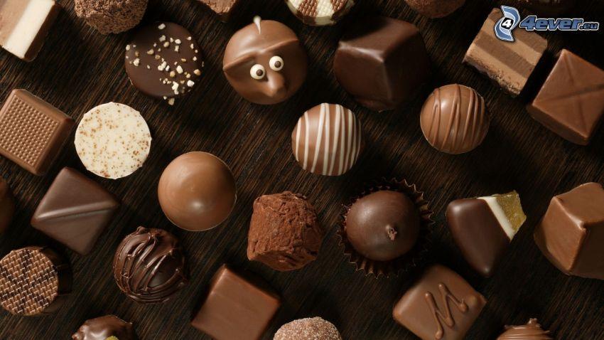 cukierki, czekolada
