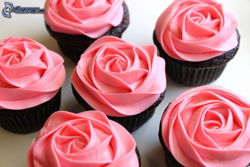 cupcakes, róże