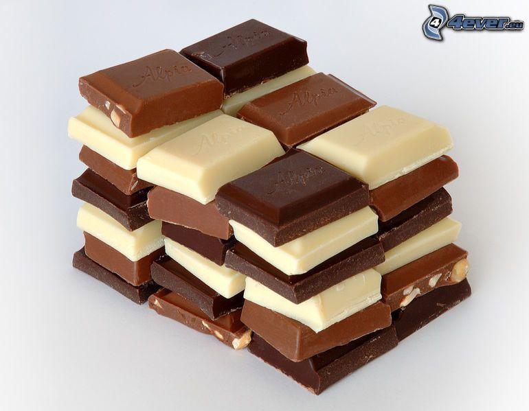 czarna i biała czekolada