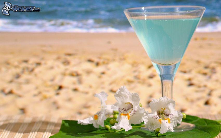 drink, plaża piaszczysta