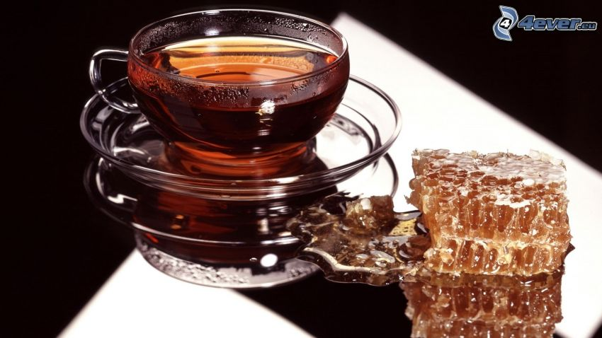 herbata, miód
