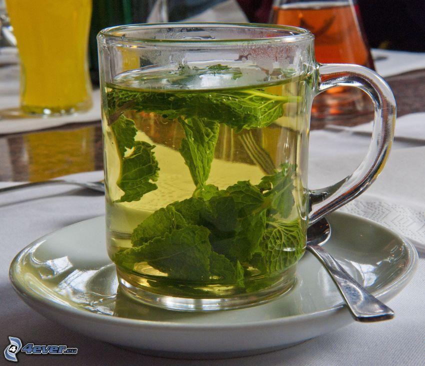 herbata miętowa, filiżanka herbaty