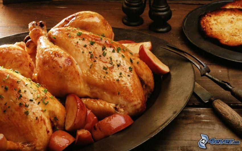 kurczak pieczony, obiad