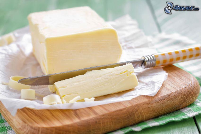 masło, nóż