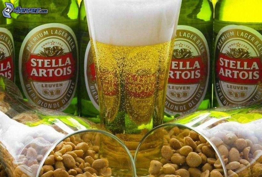 piwo, orzeszki ziemne