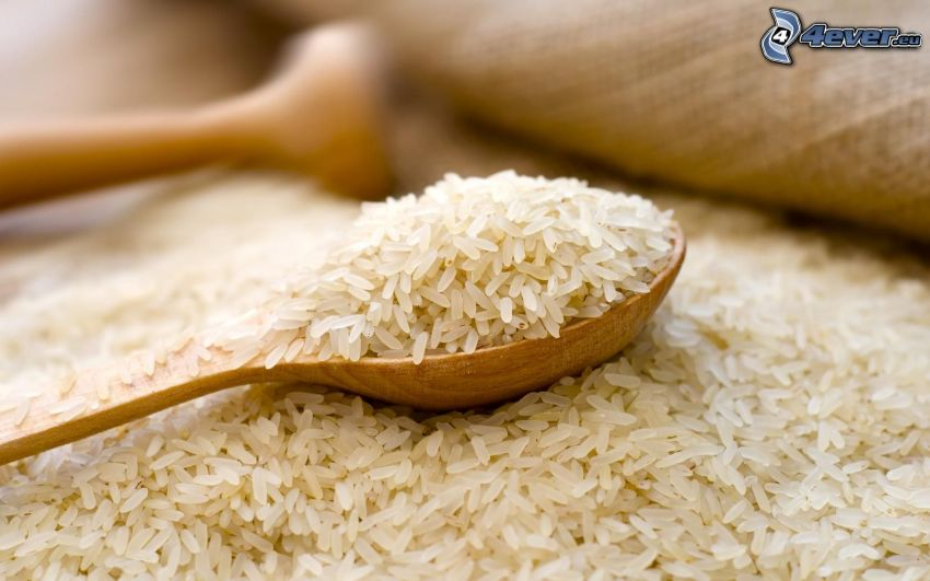 ryż, łyżka