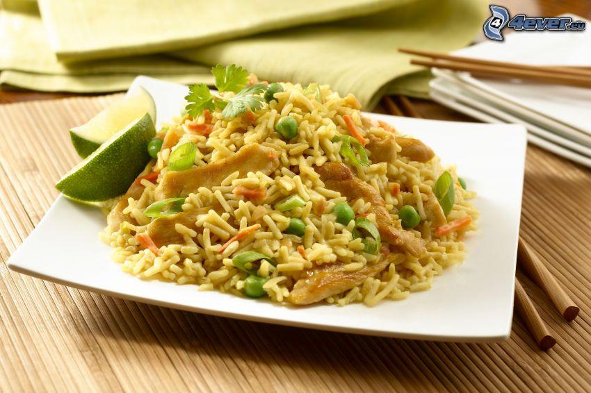 ryż, risotto, limetki