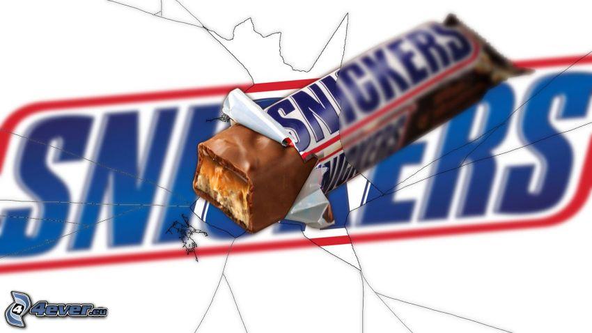 Snickers, pęknięcie