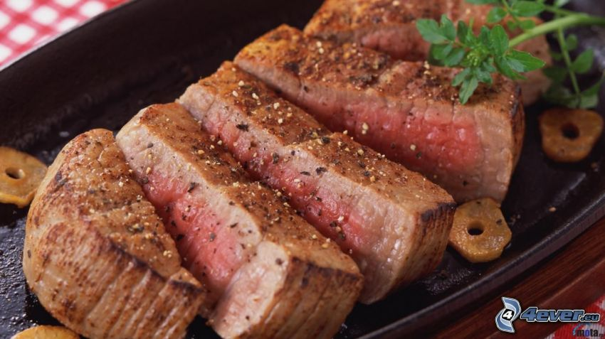 stek, mięso