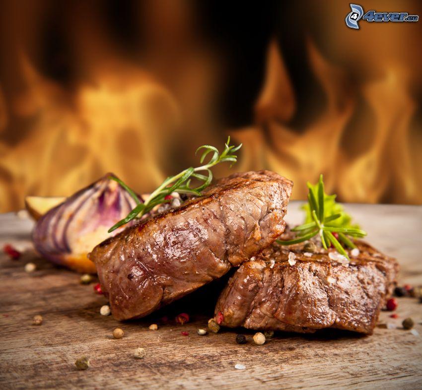 stek, rozmaryn