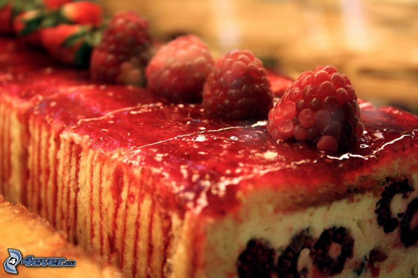 tort, maliny