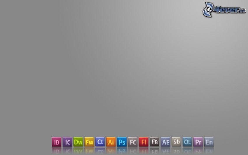 Adobe, ikony, logo
