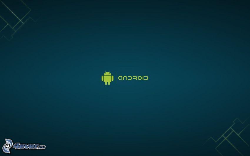 Android, niebieskie tło