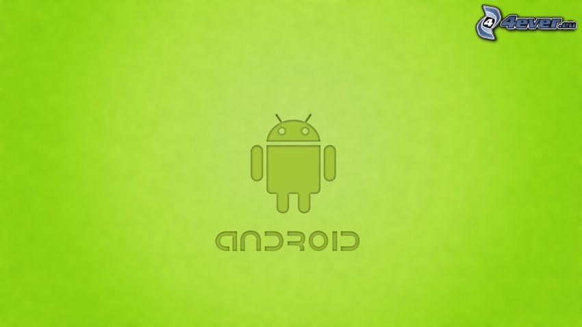 Android, zielone tło
