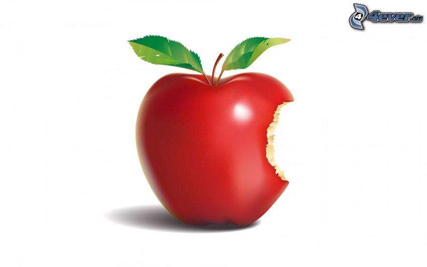 Apple, czerwone jabłko