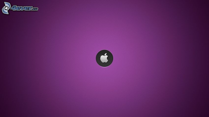 Apple, fioletowe tło