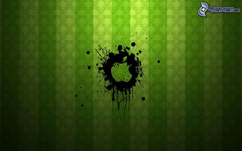 Apple, kleks, zielony