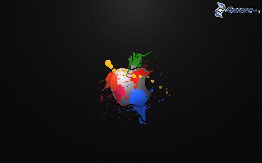 Apple, kolorowe kleksy
