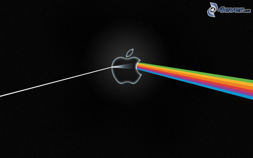 Apple, kolorowe linie