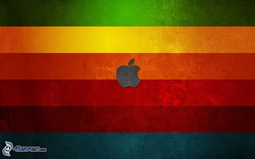 Apple, kolorowe paski