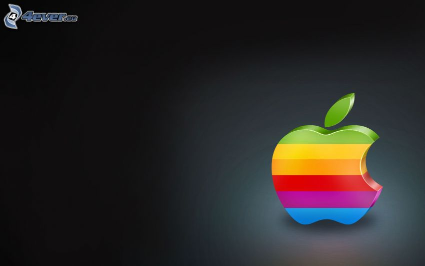 Apple, tęcza